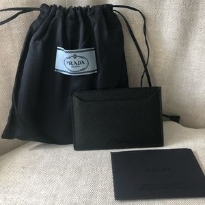 Authentic new Prada card case